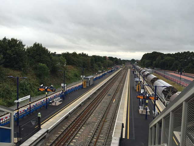 Bromsgrove residents invited to drop-in event to find out more about railway improvements: Aerial view of Bromsgrove station