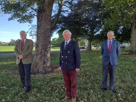 Major General Seymour Monro, Lord-Lieutenant of Moray; Chairman of the MERF, Lieutenant Colonel Grenville Johnston, former Lord-Lieutenant of Moray; Andrew Simpson, Lord–Lieutenant of Banffshire