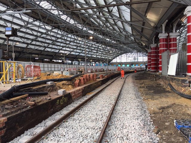 Liverpool Lime Street track works Oct 2017