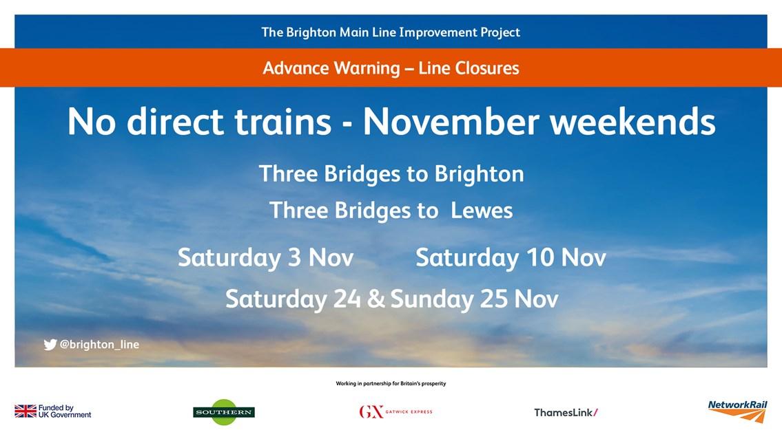 BML Improvements November Closures Poster