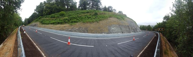 A83 at Strone Point safety works complete: A83 Strone panoramic