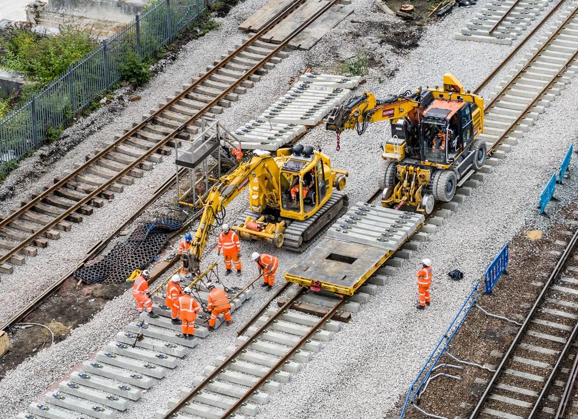 Track improvements at Queens Road