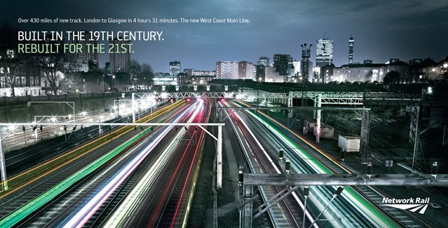 WEST COAST MAIN LINE – REBUILT FOR THE 21ST CENTURY (MK): West Coast Euston Throat landscape ad generic