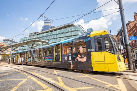 Wrapped tram - Soccer Aid