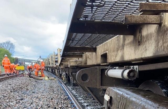 Teams on site, derailment at Church Fenton