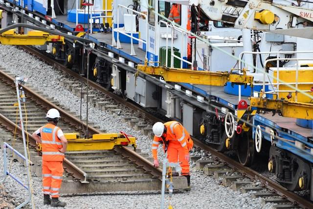 Trent Valley Line upgrade work August 2021