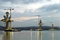 Queensferry Crossing – halfway to the top: Queensferry Crossing