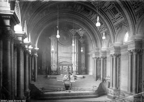 Leeds Town Hall organ recital: The Leeds Town hall organ as it was in 1888. Credit Leeds Libraries and Information Service