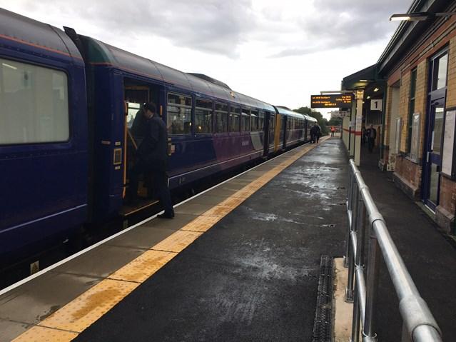 Passengers and residents thanked as Ashton-under-Lyne station opens on time: Ashton-under-Lyne platform 1 complete