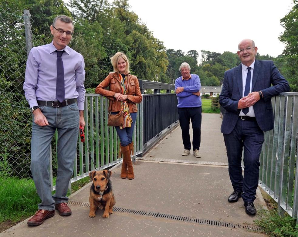 Waterhaughs footbridge officially opened