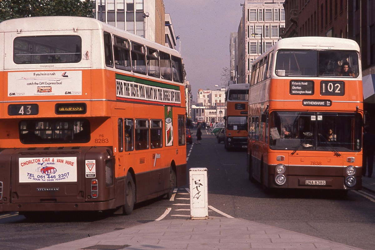 Greater Manchester Transport livery buses