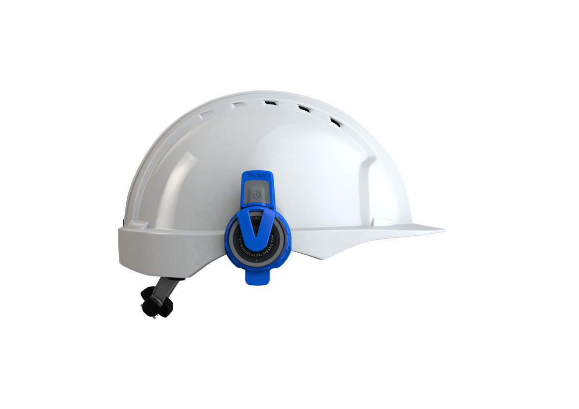 Tech start-up secures major contract with HS2 main works civil contractor to supply wearable COVID social distancing technology: Plinx - TeamTag - Helmet Large