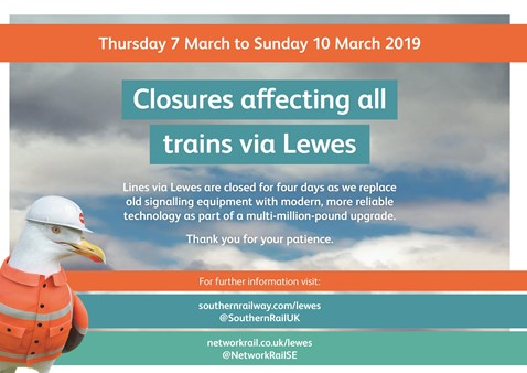 Buses to replace trains on two working days through Lewes as £25m signalling upgrade is completed: 501161 NR BML P6 LewesToSeaford A5 2PP AW 1 b HR (002) p001