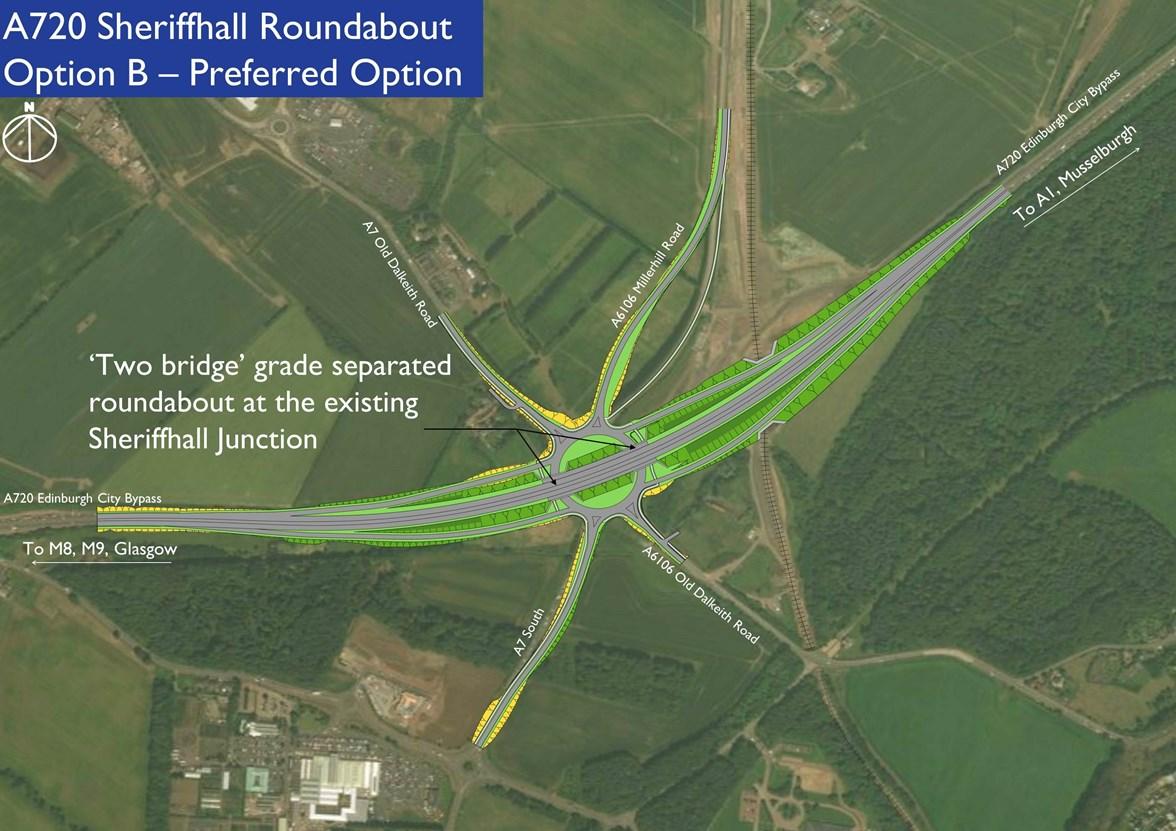 A720 Sheriffhall Aerial Plan Opt B
