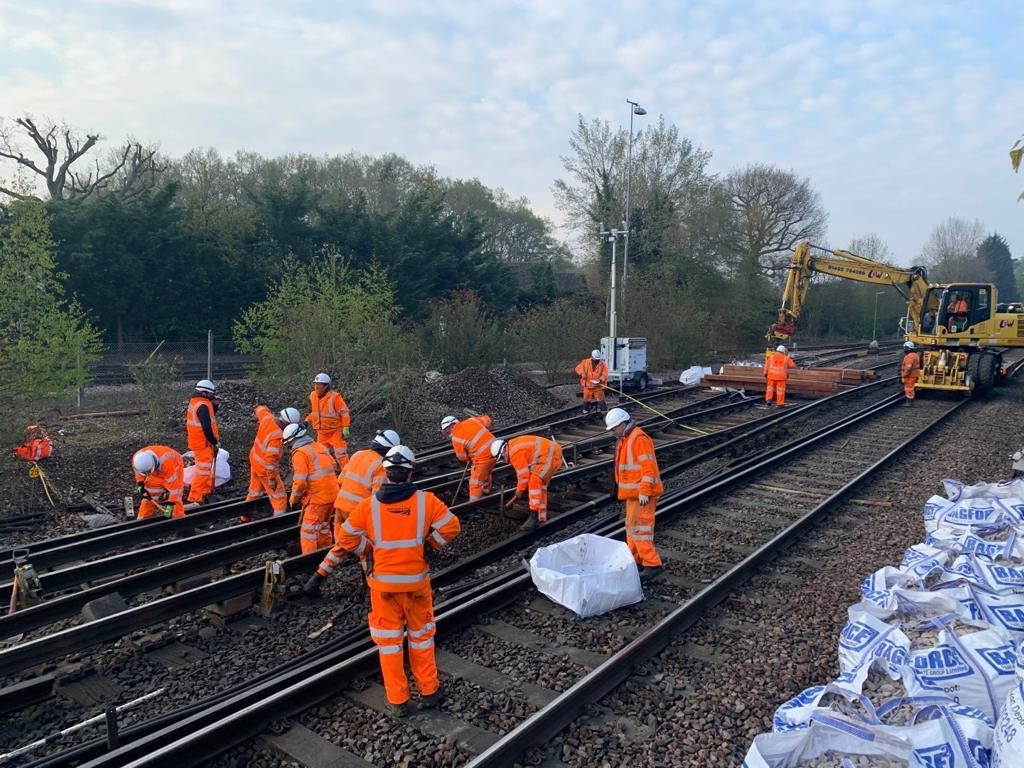 Works at Effingham junction May bank holiday weekend