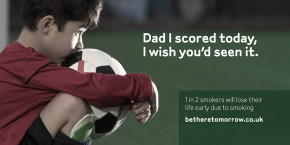 One in two East Sussex smokers will die early, according to new campaign: Be There Tomorrow anti-smoking campaign - football