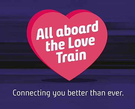 Love train celebrates better connections for Northern customers: Love train