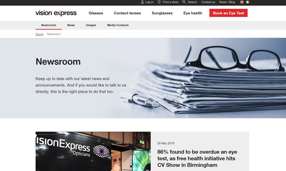 Newsroom - Vision Express