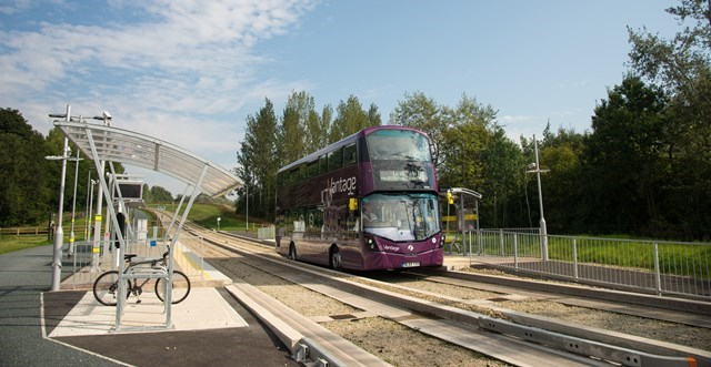 Vantage bus on the Leigh to Ellenbrook guided busway