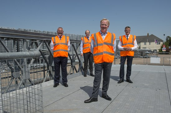 Mark Thurston visits Mabey Bridge July 2020: Credit: Henry Thomas HS2 CEO visits Mabey Bridge, international provider of high-quality modular steel bridging solutions, on 31 July 2020 Internal Asset No. 17224
