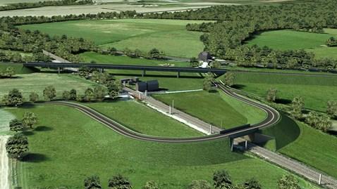 North Doncaster CGI images - road bridge