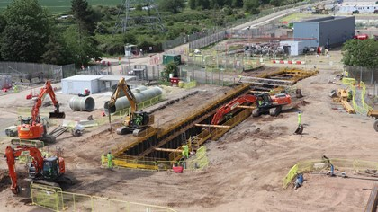 Construction progressing at Keadby 2: Keadby2constructionMay2019