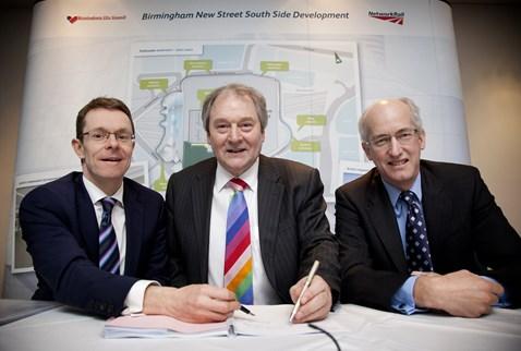 John Lewis store agreement signing