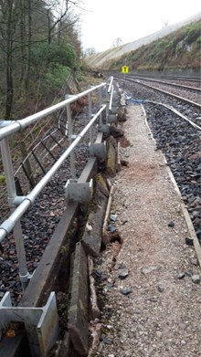 Railway between Carlisle and Appleby to be closed for several months after major landslip: Appleby landslide 1-2