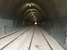 Inside the strengthened Holme Tunnel