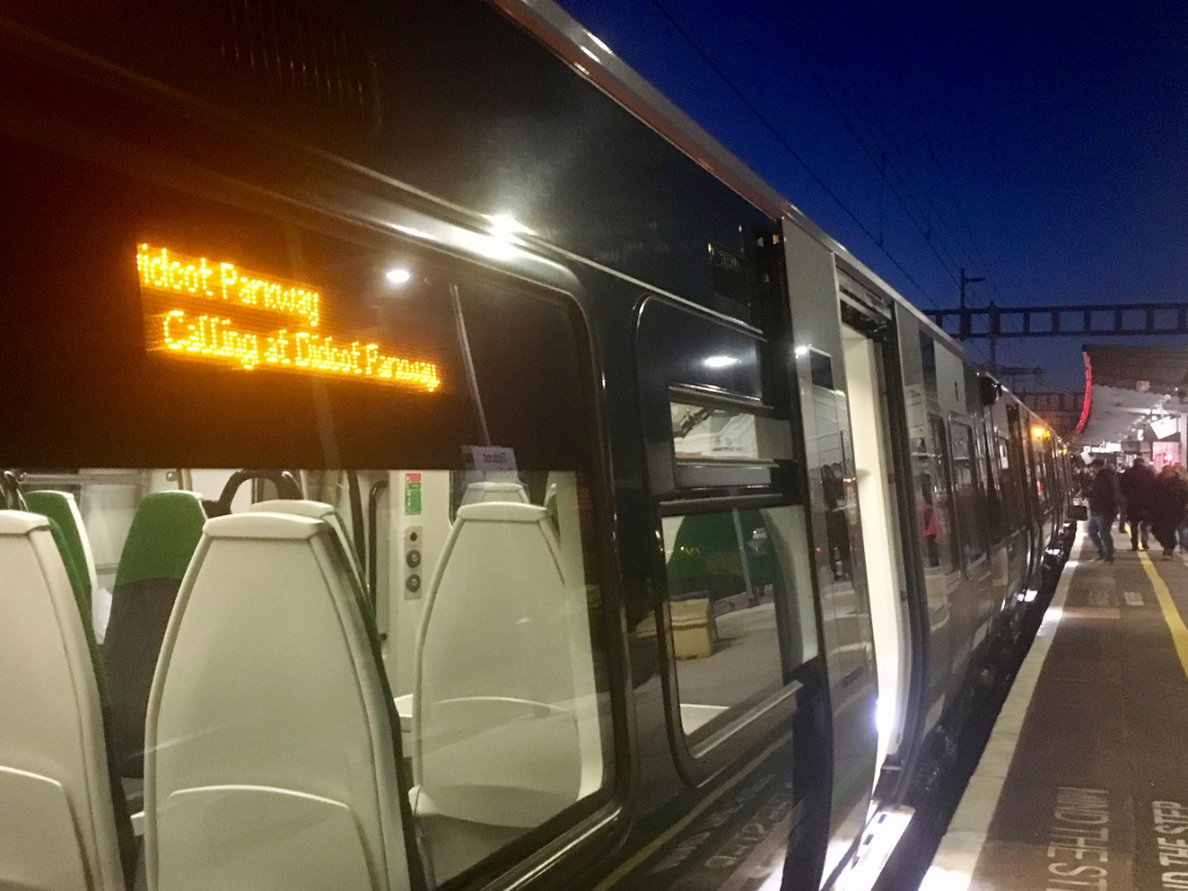 Electrification to Didcot delivered allowing new trains with more seats to come into service: Electrostar at Didcot station