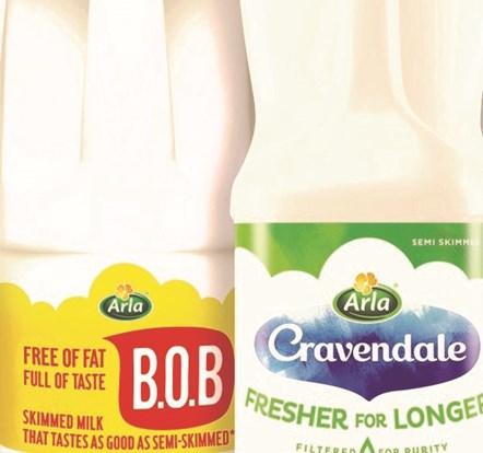 Arla Milk Brands group product shot