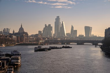 Record six months for VC investment into London and global fintech sector: London skyline2 2021