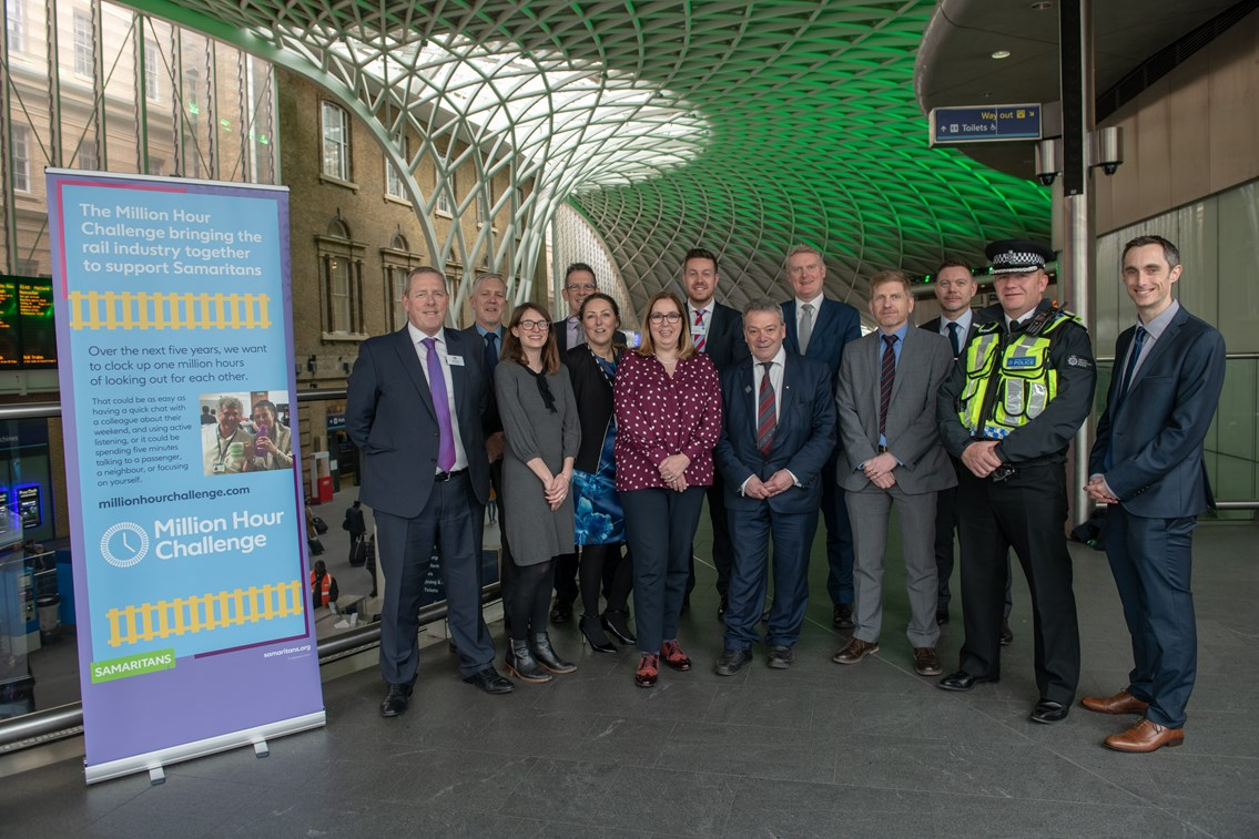 Rail industry comes together to support Samaritans: Million Hour Challenge launch 270319
