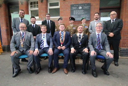 Carmarthen station plaque unveiling ceremony attendees