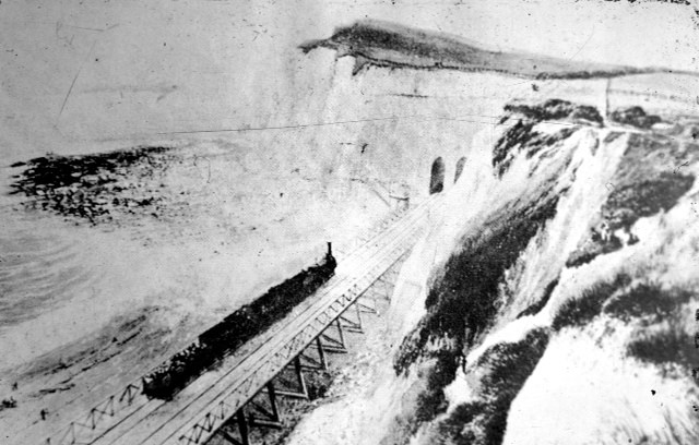 Railway detectives piece together history of Dover sea wall: Dover- historic trestle picture