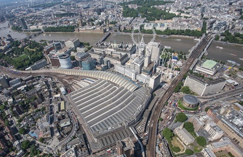 aerial -  Waterloo and Charing Cross