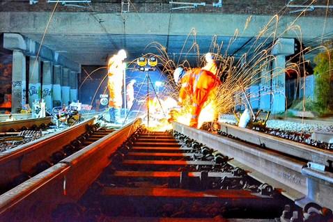 Network Rail orange army upgrading railway overnight