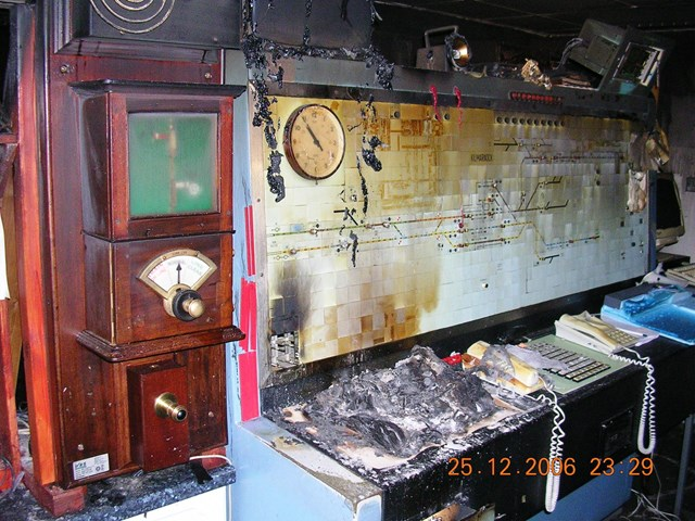 Fire damage to Kilmarnock signalling centre: Fire damage to Kilmarnock signalling centre