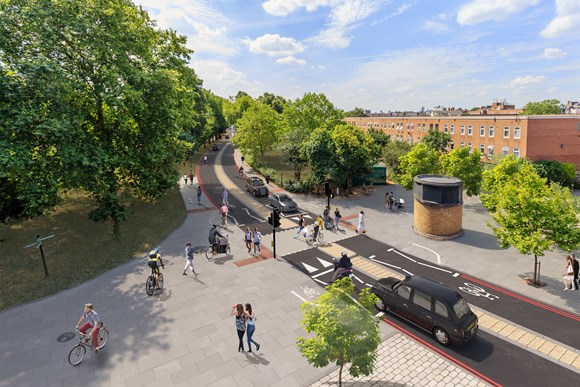 TfL Press Release - TfL and Hackney Council publish plans to redesign Stoke Newington gyratory to make it more people-friendly: TfL Image - Stoke Newington Gyratory