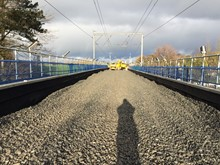 New ballast across Wyre Viaduct between Preston and Lancaster