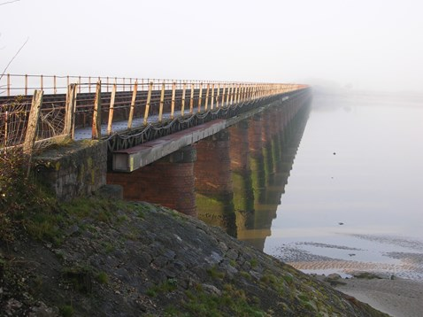 Leven viaduct before refurbishment