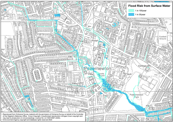 Potternewton residents and businesses invited to share their views on flood risk options : mapoffloodingarea-forwebsite.png