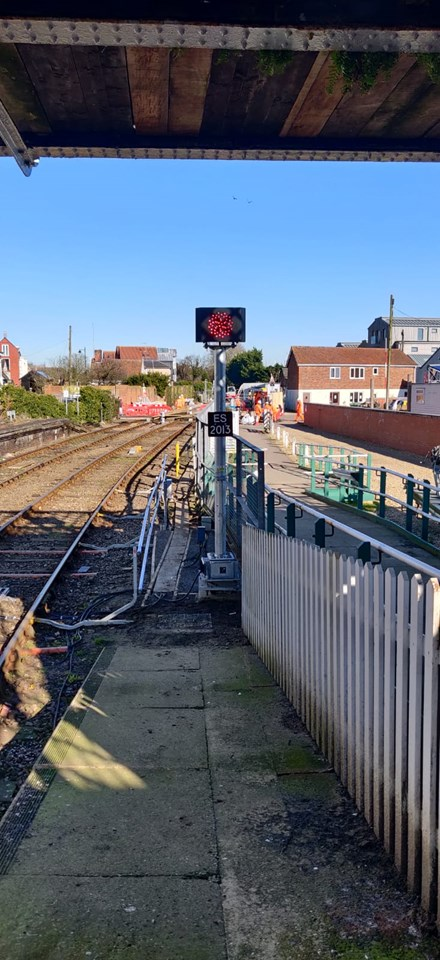 Woodbridge Level Crossing works