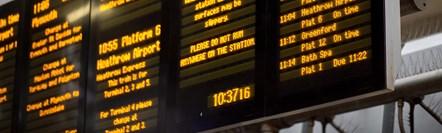 Departure board Paddington