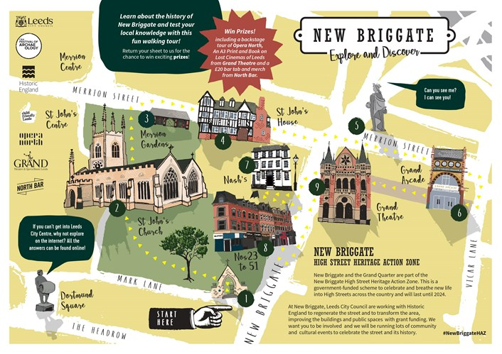 New Briggate - Explore and Discover map