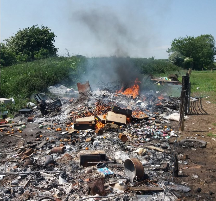 Car Boot Operator fined over illegal fire: yeadoncarboot.jpg