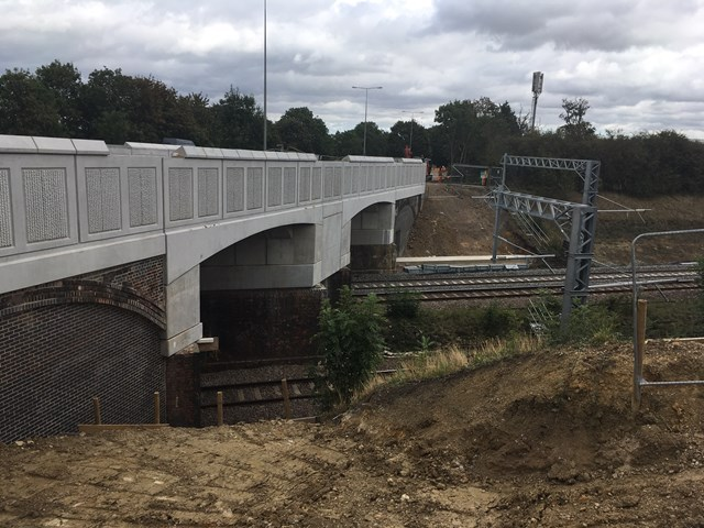 Network Rail apologises for extension of A45 contraflow in Northamptonshire: Higham Road bridge-2