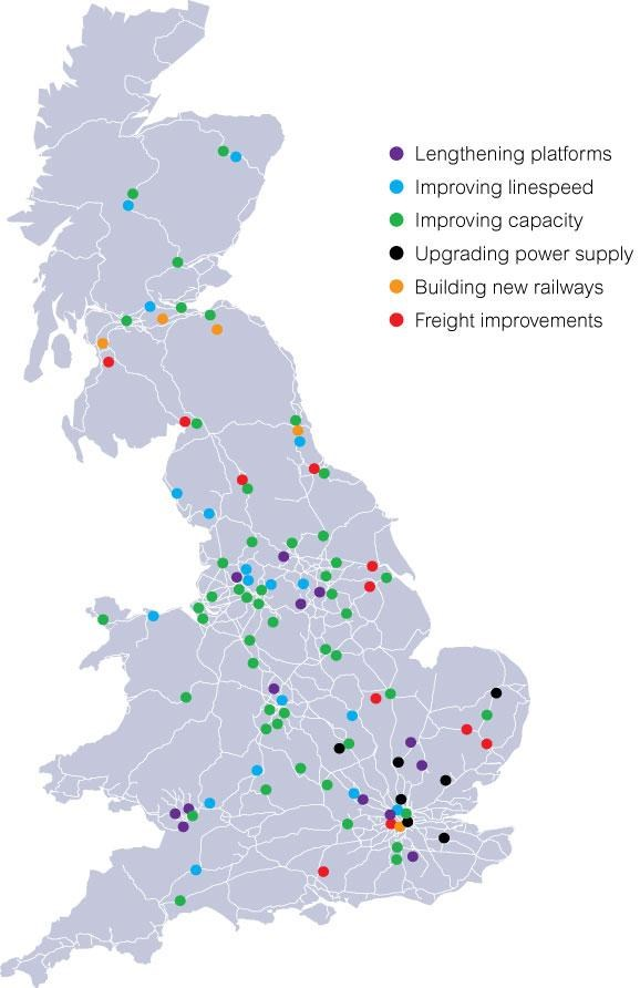 Project Map: Map of improvement projects 2009-2014
