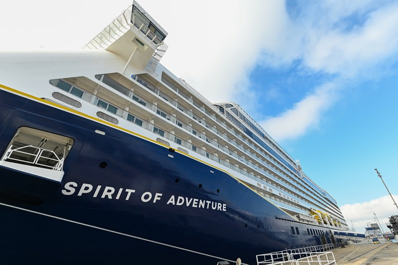 'Freedom Day' marked with the symbolic naming ceremony of Saga's brand-new cruise ship, 'Spirit of Adventure': Saga Cruises' Spirit of Adventure - external