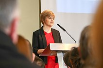 DFM at Wales Governance Centre Annual Lecture 2014: Nicola Sturgeon, Deputy First Minister gives a speech at the Wales Governance Annual Lecture 2014, in Cardiff Wales